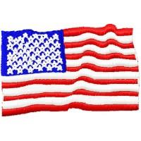 Дизайн машинной вышивки Флаг США скачать