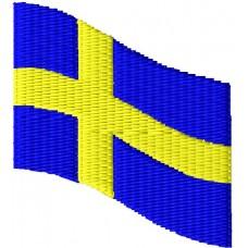 Дизайн машинной вышивки Флаг Швеции скачать