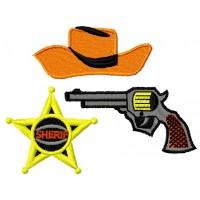 Дизайн машинной вышивки Шериф скачать