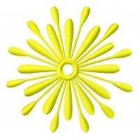 Дизайн машинной вышивки Солнечный цветочек скачать