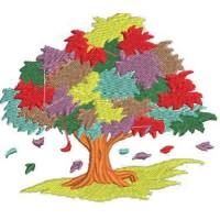 Дизайн машинной вышивки Осеннее дерево скачать