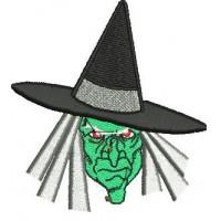 Дизайн машинной вышивки Голова ведьмы скачать