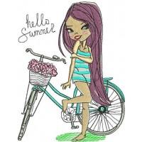 Девочка с велосипедом