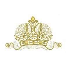 Дизайн машинной вышивки Корона скачать