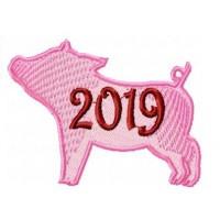 Дизайн машинной вышивки Символ года поросёнок 2019 скачать