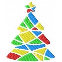 Дизайн машинной вышивки Разноцветная елочка скачать