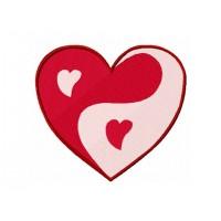 Дизайн машинной вышивки Сердце Инь-Янь скачать