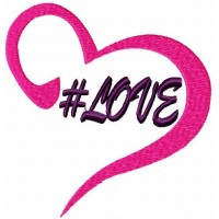 Дизайн машинной вышивки #Love скачать