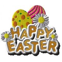 Дизайн машинной вышивки Пасхальные яйца Easter скачать