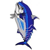 Дизайн машинной вышивки Рыба скачать