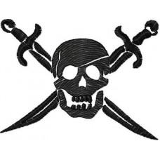 Дизайн машинной вышивки Пиратский череп скачать