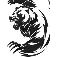 Дизайн машинной вышивки Медведь тату скачать
