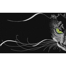 Дизайн машинной вышивки Чёрный кот скачать