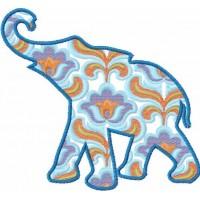 Дизайн машинной вышивки Индийский слон скачать