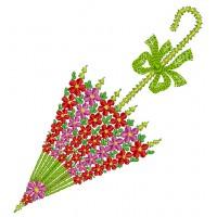 Дизайн машинной вышивки Цветочный зонтик скачать