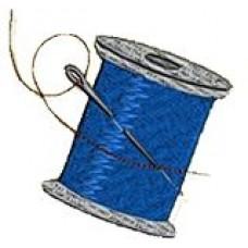 Дизайн машинной вышивки Нитки с иголкой скачать
