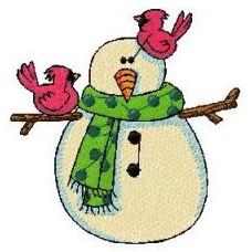 Дизайн машинной вышивки Снеговик 1 скачать