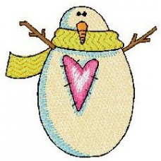 Дизайн машинной вышивки Снеговик 2 скачать