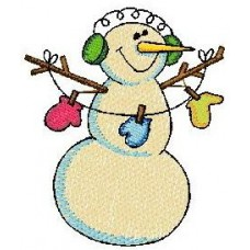 Дизайн машинной вышивки Снеговик 3 скачать
