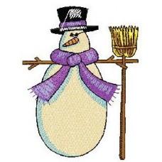 Дизайн машинной вышивки Снеговик 5 скачать