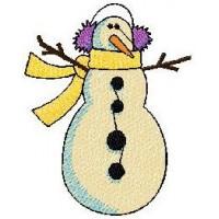 Дизайн машинной вышивки Снеговик 6 скачать