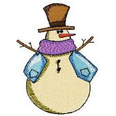 Дизайн машинной вышивки Снеговик 7 скачать