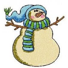 Дизайн машинной вышивки Снеговик 8 скачать