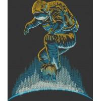 Дизайн машинной вышивки Космоскейт скачать
