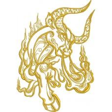 Дизайн машинной вышивки Зодиак телец скачать