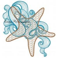 Дизайн машинной вышивки Морская звезда скачать