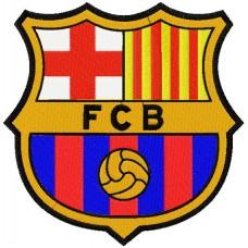 Дизайн машинной вышивки ФК Барселона скачать