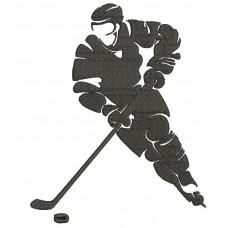 Дизайн машинной вышивки Хоккеист 1 скачать