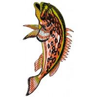 Дизайн машинной вышивки Рыба коричневая скачать