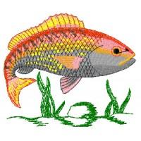 Дизайн машинной вышивки Рыба в воде скачать