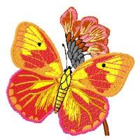 Дизайн машинной вышивки Огненная бабочка скачать