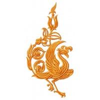 Дизайн машинной вышивки Золотая птица скачать