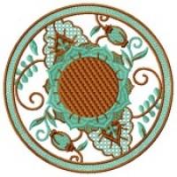 Дизайн машинной вышивки Цветочный круг скачать