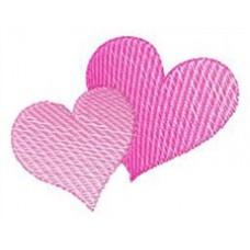Дизайн машинной вышивки Два сердца скачать