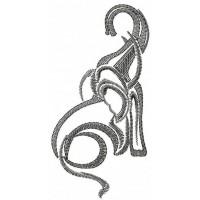 Дизайн машинной вышивки Слон скачать