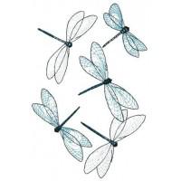Дизайн машинной вышивки Полёт стрекоз скачать