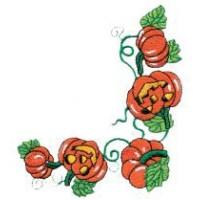Дизайн машинной вышивки Орнамент с тыквами скачать