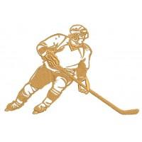 Дизайн машинной вышивки Хоккеист  скачать