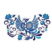 Дизайн машинной вышивки Синяя птица скачать