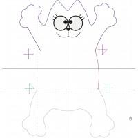 Дизайн машинной вышивки Подушка Кот Саймон скачать