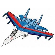 Дизайн машинной вышивки СУ-27 скачать