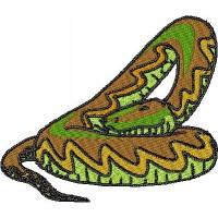 Дизайн машинной вышивки Змея скачать