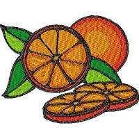 Дизайн машинной вышивки Апельсин скачать