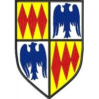 Дизайн машинной вышивки Рыцарский герб скачать