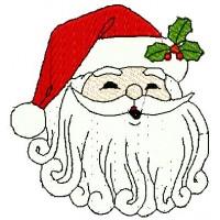 Дизайн машинной вышивки Санта Клаус в шапке скачать