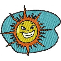 Дизайн машинной вышивки Солнце скачать